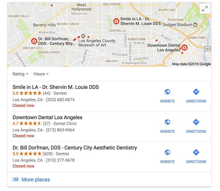 Google Maps Dental Marketing