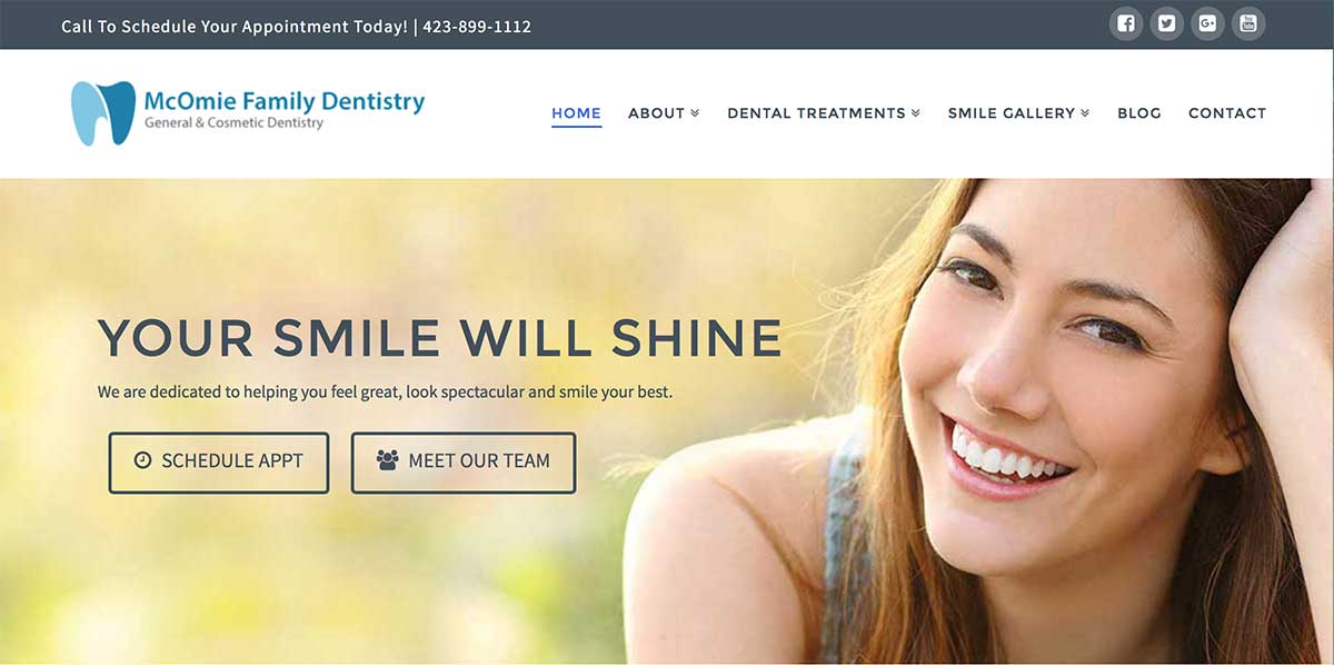 dental website design service